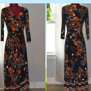 Du Jour Regular XXS Maxi Dress Floral Faux Wrap